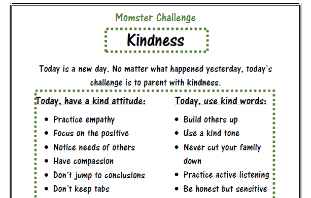 Kindness Challenge Printable Reminder